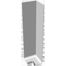300mm plain fascia corner